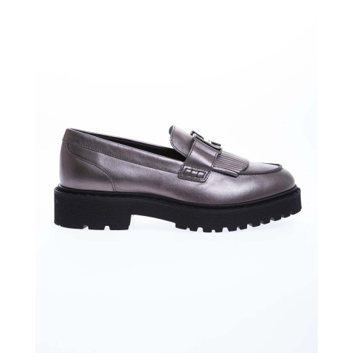 Achat Metallized calfskin moccasins penny strap of fringes 40 - Jacques-loup