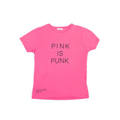 "T-shirt Valentino ""Pink is Punk"" rose"