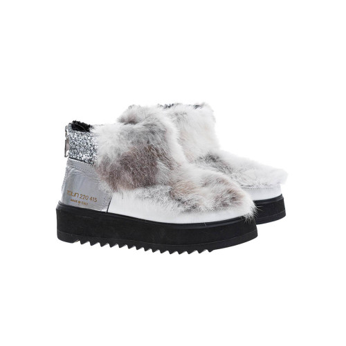 Achat Fur and calf leather low boots - Jacques-loup