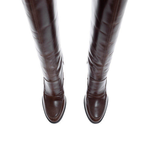 Achat Botte PROJETTO Tal.100 + patin 20 Marron Tod's Femme - Jacques-loup