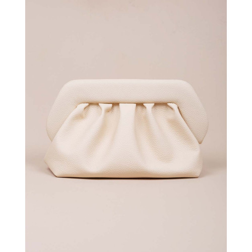 Achat XL Clutch bag with reused grain-embossed leather and shoulder strap - Jacques-loup