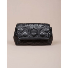 Fleming Soft Clutch - Nappa leather quilted clutch bag with flap