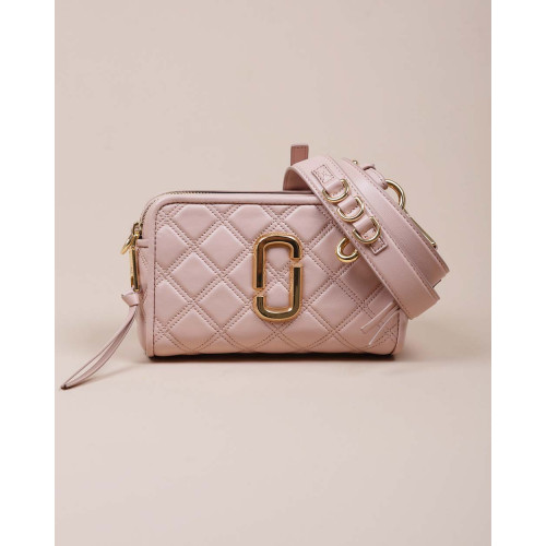 Achat Soft Shot 21 - Rectangular leather quilted bag with golden logo - Jacques-loup