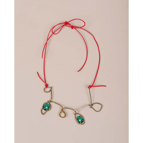 Achat Necklace with green stones - Jacques-loup
