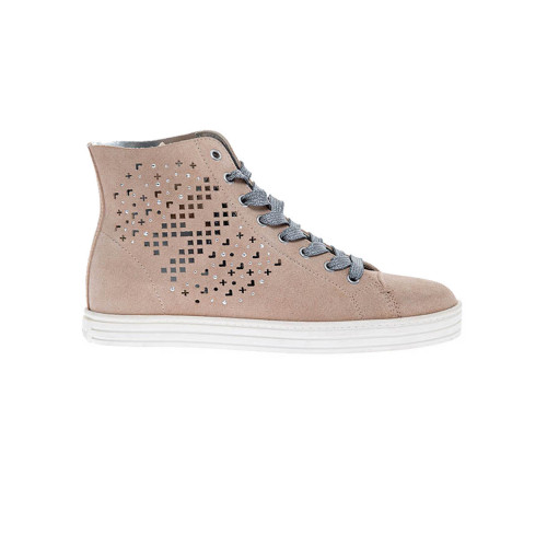 Achat Split leather hi-top sneakers - Jacques-loup