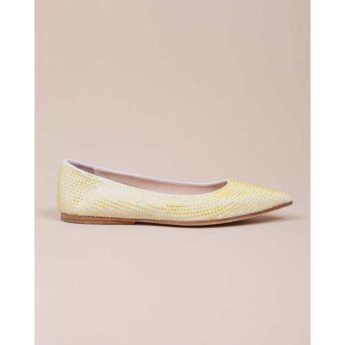 Achat Suede ballerinas covered with sparkling stones - Jacques-loup