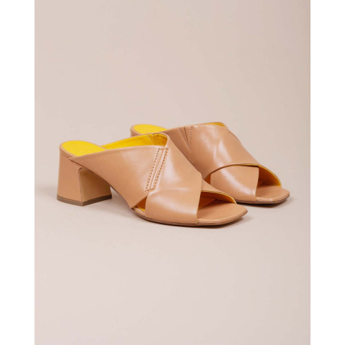 Achat Nappa leather mules with two large straps 55 - Jacques-loup