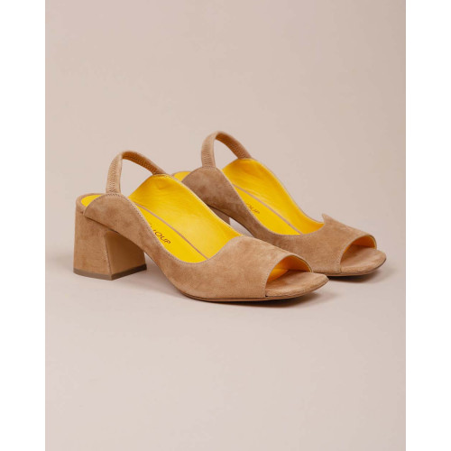 Achat Suede sandals with open toe and ankle strap 55 - Jacques-loup