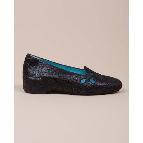 Achat Leather ballerinas with cut out design on the upper - Jacques-loup