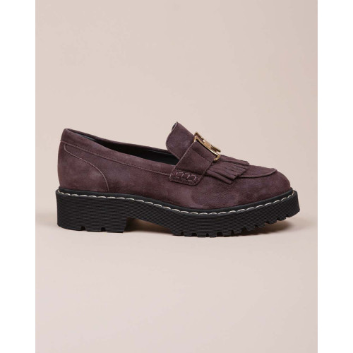 Achat Suede moccasins penny strap of fringes 40 - Jacques-loup