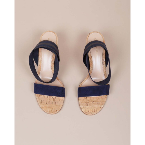 Achat Leather sandals with elastic strap - Jacques-loup
