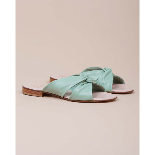 Achat Nappa leather mules with twisted strips 10 - Jacques-loup