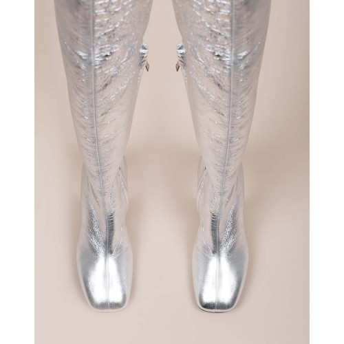 Achat Leather thigh high boots with zipper 60 - Jacques-loup