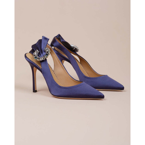 Achat Penelope - Satin cut shoe with strass buckle 100 - Jacques-loup