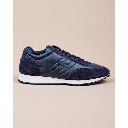 Achat Running H86 - Suede and split leather sneakers with quilted H - Jacques-loup