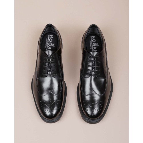 Achat Route - Glazed calf leather derby shoes decorative perforations - Jacques-loup