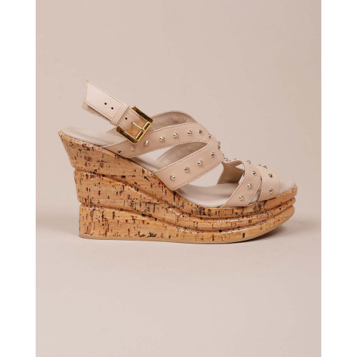 Achat Platform heel sandals with patent cork - Jacques-loup