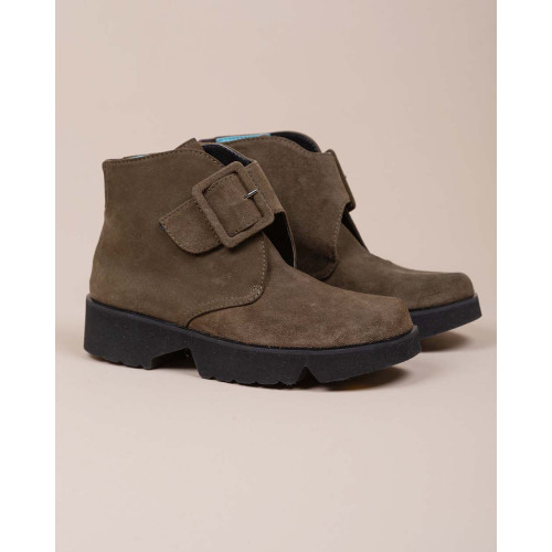 Achat Split leather derby boot with buckle - Jacques-loup
