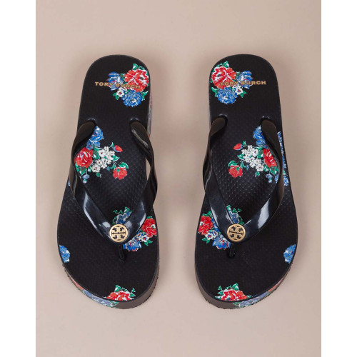 Achat Flip Flop with platform heel and decorative flowers 45 - Jacques-loup