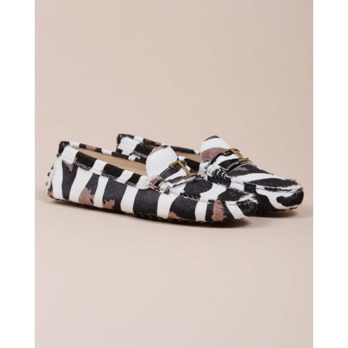 Achat Gomini - Moccasins with zebra fur effect and decorative bit - Jacques-loup