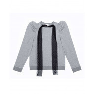 Sweat-shirt Red Valentino gris et noir