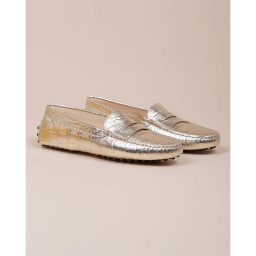 Achat Gomini - Leather moccasins with crocodile print - Jacques-loup
