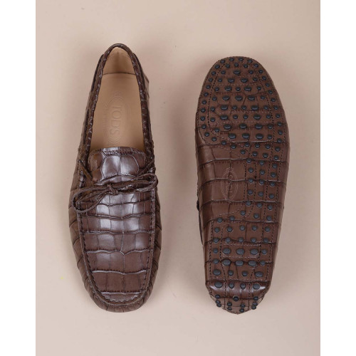 Achat Brown moccasins with crocodile print - Jacques-loup