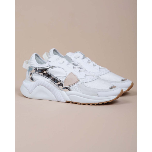 Achat Eze - Leather and textile sneakers with crocodile print - Jacques-loup