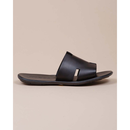 Achat Leather mules with H strap - Jacques-loup
