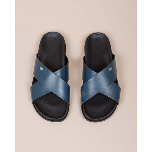 Achat Nappa leather mules with crossing straps - Jacques-loup