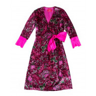 Achat Robe portefeuille For Restless Sleepers Rose et rouge - Jacques-loup