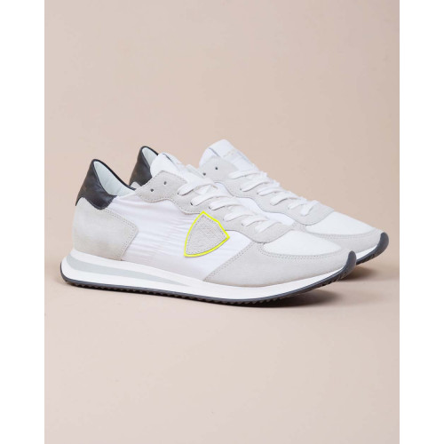 Achat Tropez X - Leather and textile sneakers with escutcheon on the side - Jacques-loup