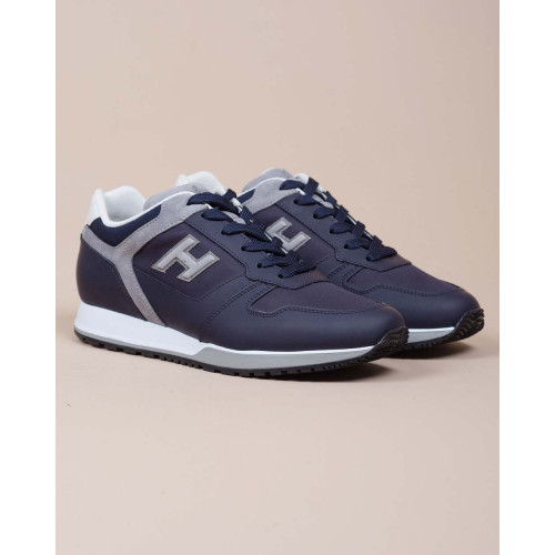 Achat H321 - Calf leather and textile sneakers - Jacques-loup