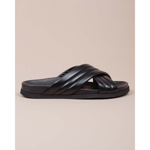 Achat Nappa leather mules with 2 crossed padded straps - Jacques-loup