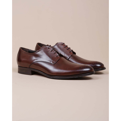 Achat Leather derby shoes with floral design - Jacques-loup