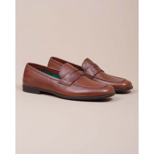 Yacht - Natural leather moccasins with strap