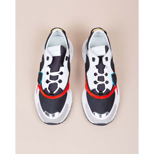Achat Eze - Leather and textile sneakers with color scheme - Jacques-loup