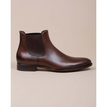 Beattle - Praga leather boots with elastic on sides