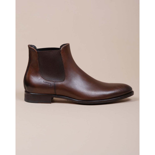 Achat Beattle - Praga leather boots with elastic on sides - Jacques-loup