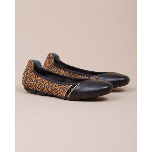 Achat Wrap - Nappa and calf leather ballerinas leopard print 20 - Jacques-loup