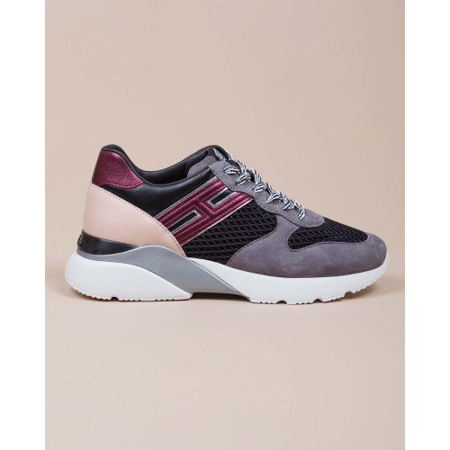 Achat Active One - Metallic calf and suede leather sneakers with cuts 50 - Jacques-loup