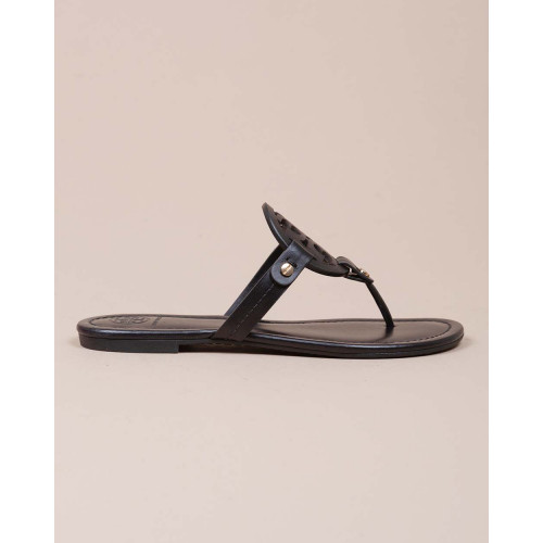 Achat Miller - Leather flip flops with cut out logo - Jacques-loup