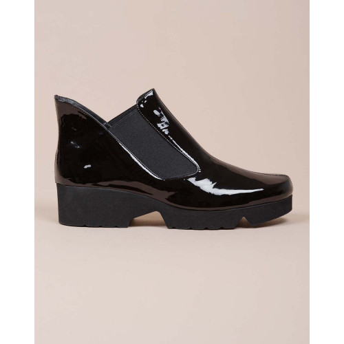 Achat Patent leather boots with elastics on sides 40 - Jacques-loup
