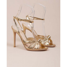 Portia - Nappa leather sandals with knotted straps 105mm