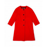 Manteau Marni ras du cou, manches 3/4, orange/rouge