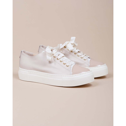 Achat Nappa leather sneakers with patent leather toe cap and platform 35 - Jacques-loup
