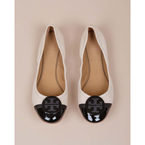 Achat Minnie Toe-cap Ballet - Leather ballerinas with lacquered metal piece - Jacques-loup