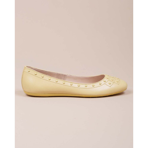 Achat Leather ballerinas with studs design - Jacques-loup