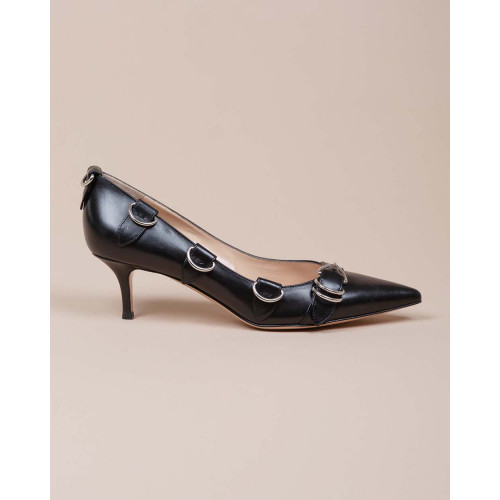 Achat Clash 55 - Leather pumps with metallic buckles 55 - Jacques-loup