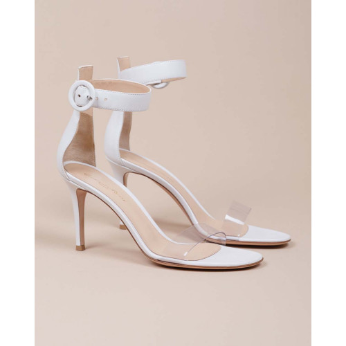 Achat Leather sandals with pvs strap 85 - Jacques-loup